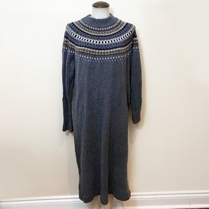 Extra Long Nordic Sweater Dress